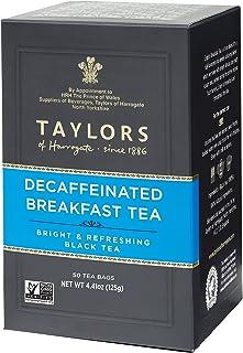 Taylors of Harrogate Decaffeinated Breakfast, 50 Teabags (Pack of 6)