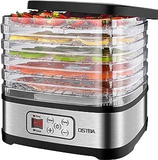 comprar comparacion Deshidratador de Alimentos 240W OSTBA, Deshidratadora de Frutas con 5 Bandejas Altura Regulable, Pantalla LCD, emporizador...