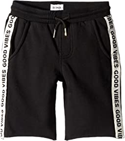 Good Vibes Shorts in Black Rip (Toddler/Little Kids/Big Kids)