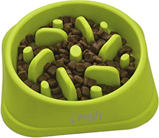 Zenify Dog Bowl Slow Feeder - Large 500ml Healthy Eating Pet Interactive Feeder with Anti-Skid Non-Slip Grip Base to Reduc...