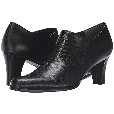 Trotters Jolie (Black Metal Glazed Snake/Soft Nappa Leather) Women