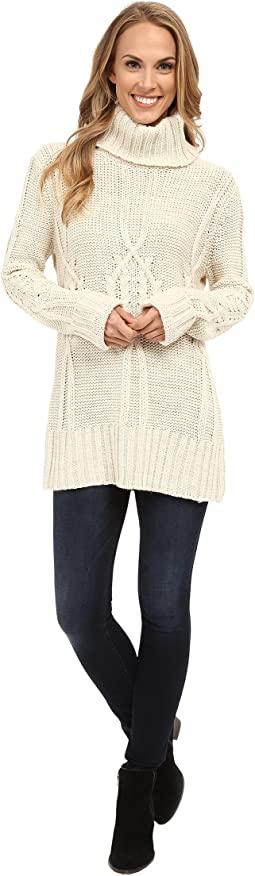 B Collection by Bobeau - Cable Knit Sweater