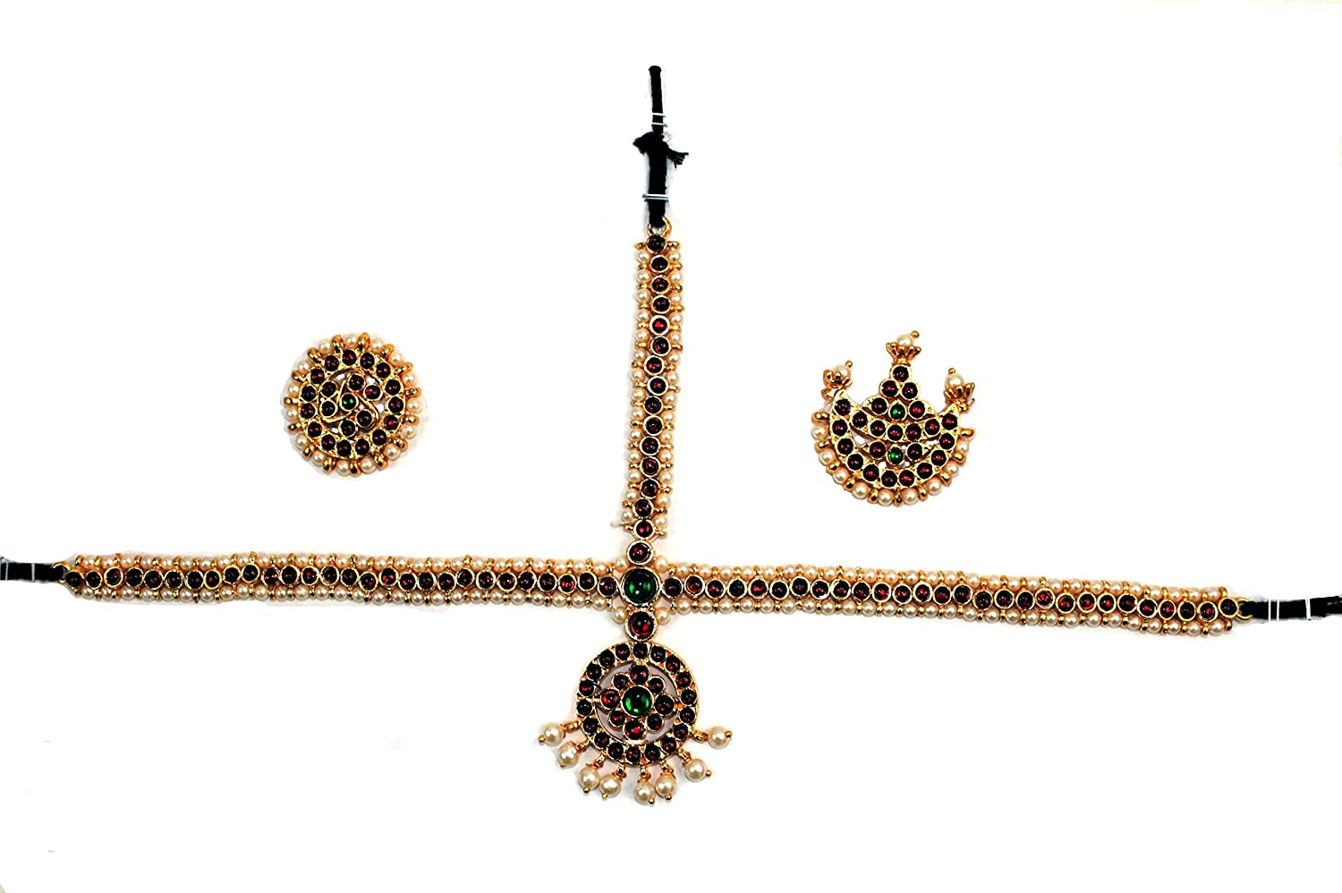 Indian Jewelry - Max 42% OFF Temple Very popular Head for Set Bharatanatyam K and