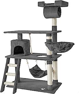 TecTake Rascador para Gatos Árbol para Gatos Sisal Juguetes