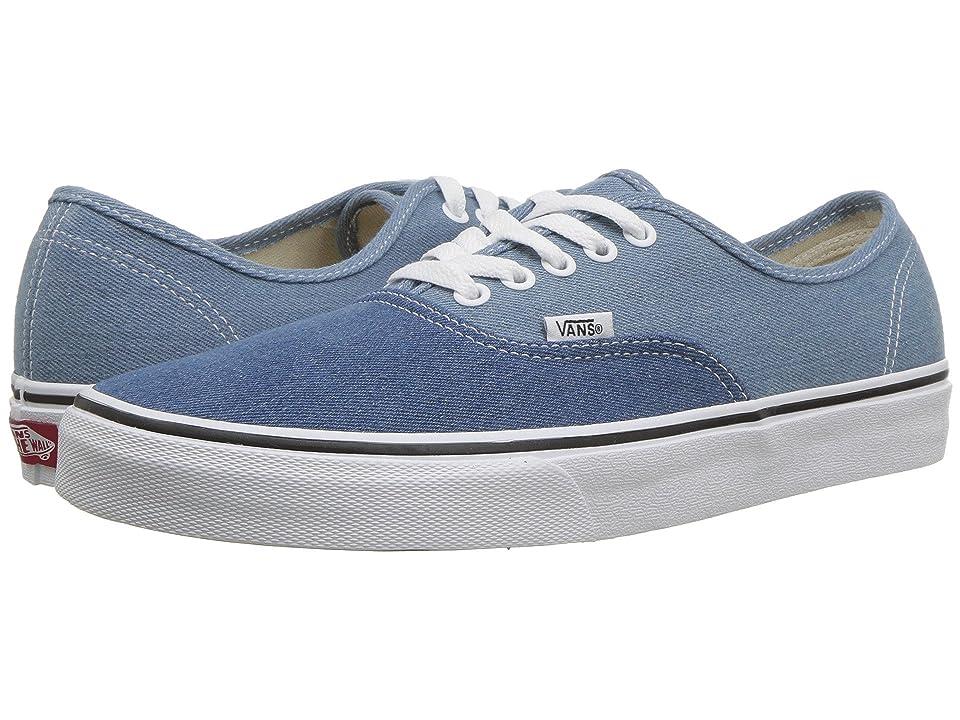 Vans Authentictm ((Denim Two-Tone) Blue/True White) Skate Shoes