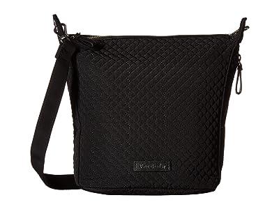 Vera Bradley Carson Mini Hobo Crossbody (Classic Black) Cross Body Handbags