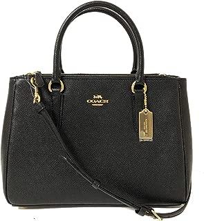 Coach Leather & PVC Surrey Carryall Satchel Crossbody Handbag