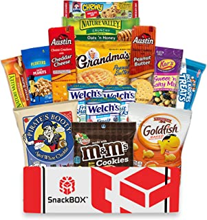 Care Package for College Students, Military, Halloween, Finals, Birthday, Office Snacks and Back to School with Chips, Cookies and Candy (15 Count) From SnackBOX