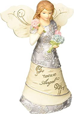 Pavilion Gift Company 5.5 Inch Collectible Elements Figurine You're an Angel, Beige