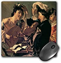 3dRose BLN Music Featured in Fine Art Collection – The Concert, c. 1623 by Dirck Van Baburen Men Playing Violin and Lute – MousePad (mp_171342_1)