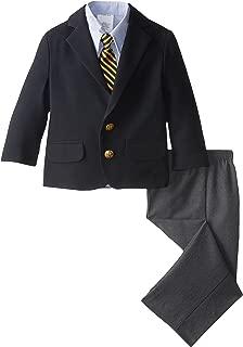 navy poplin suit