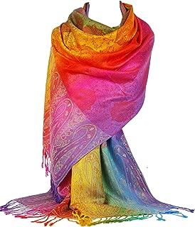 Grand Foulard//Hijab//Châle//Écharpe Femme,100/%Cachemire,Mode,Rose,Tissu Fin,France