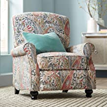 Ethel Coral Paisley Push Back Recliner Chair - Elm Lane