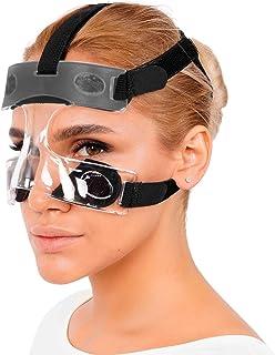invera Nose Guard Face Shield Protect Mask for بینی شکسته ، یک اندازه مناسب بیشتر ، یونیسکس ، Clear Vision ، بندهای قابل تنظیم
