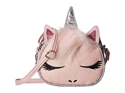 OMG! Accessories Winged Unicorn Crossbody (Pink) Cross Body Handbags