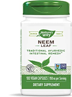 Nature's Way Neem Leaves 475 mg 100 Capsules
