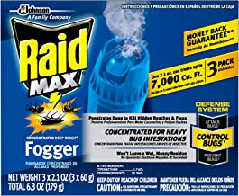 Raid Max Fogger, Insect Killer for Mosquito, Ant, Roach, Spider, Flea, For Indoor Use,..