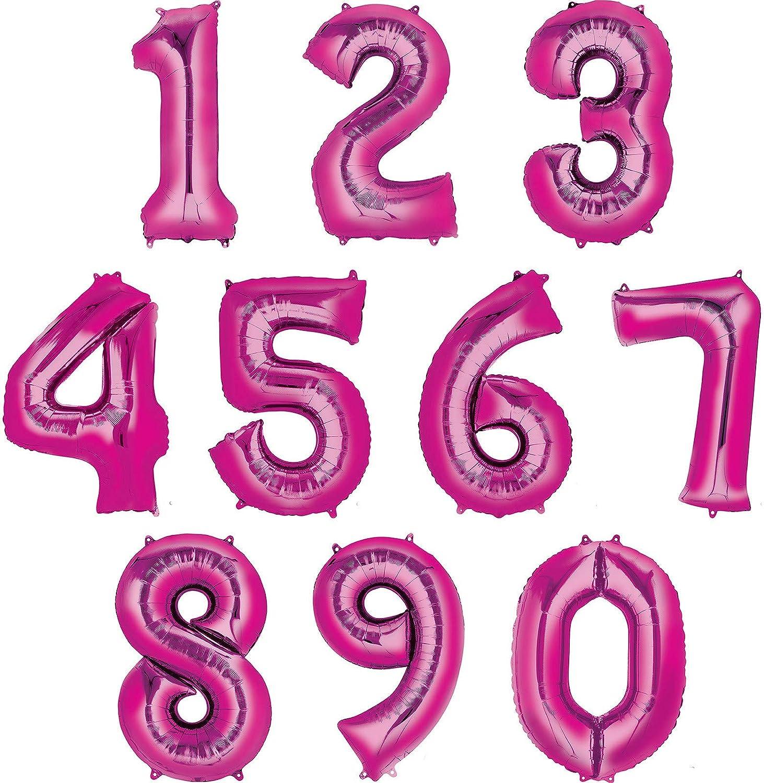 "10 x Anagram 4/"" Pink Star Foil Balloon Party Wedding Anniversary Decoration"