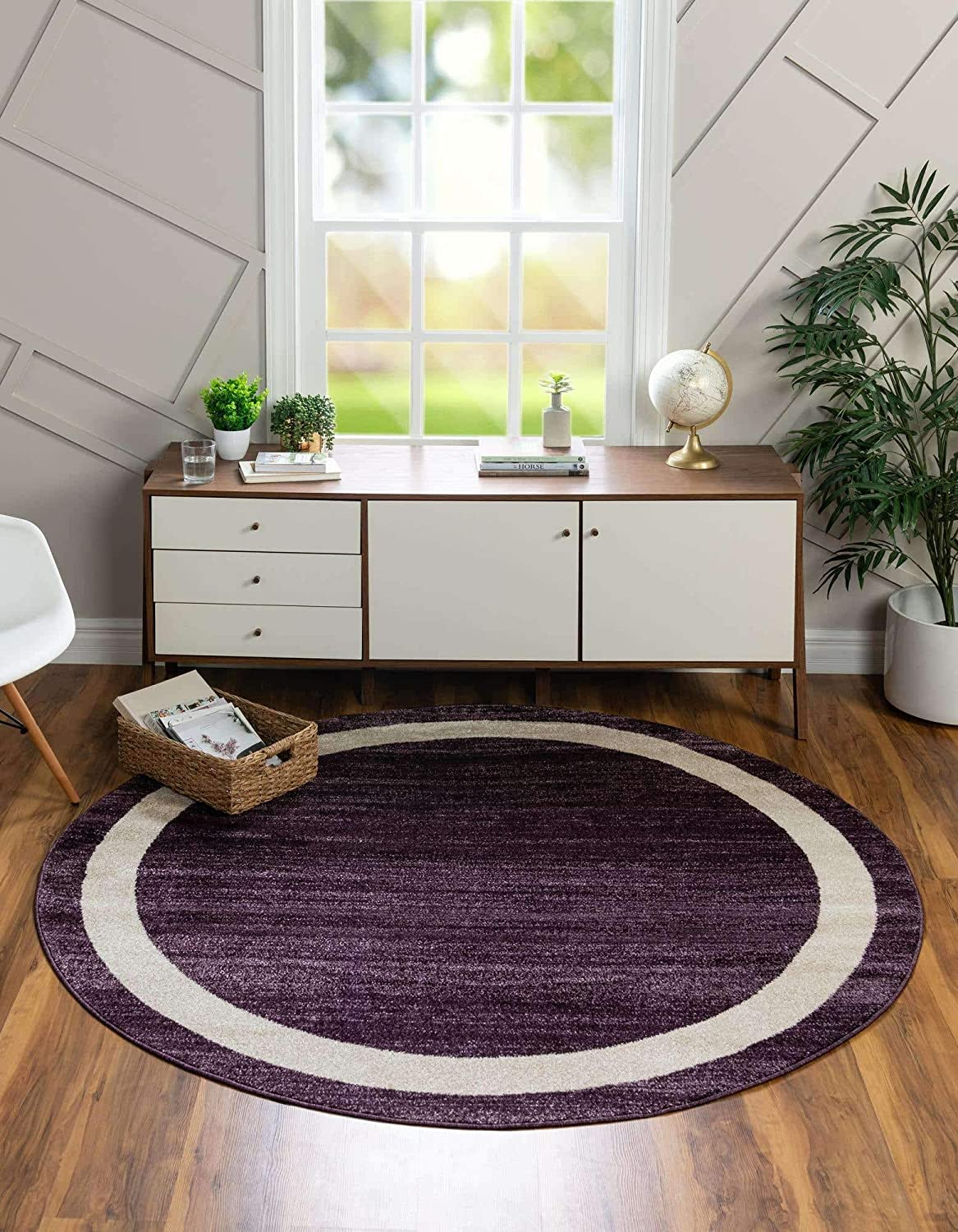Unique Loom Del Mar Collection R Max 88% OFF Round Transitional Contemporary New arrival