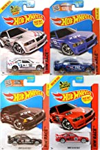 BMW HW Racing M Series 4 Car Set Hot Wheels #146 E36 M3 Race & # 169 2014 New Casting Red, White, Blue & Black Variants in Protective Cases