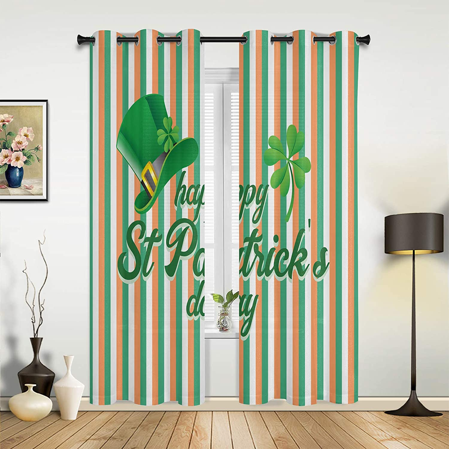 Window Sheer Curtains for Bedroom Patrick' New products world's highest Ranking TOP16 quality popular Living Room Happy St.