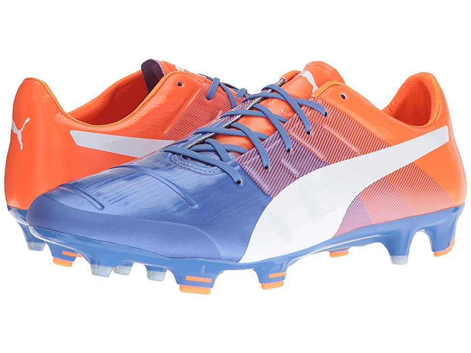 PUMA evoPOWER 1.3 FG (Blue Yonder/Puma White/Shocking Orange) Men
