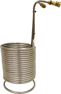 NY Brew Supply Stainless Wort Chiller with Garden Hose Fittings, 1/2