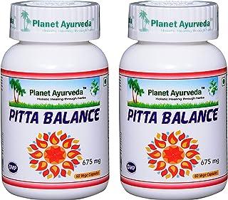 Pitta Balance - 2 Bottles (Each 60 Capsules, 675mg) - Planet Ayurveda (in USA)