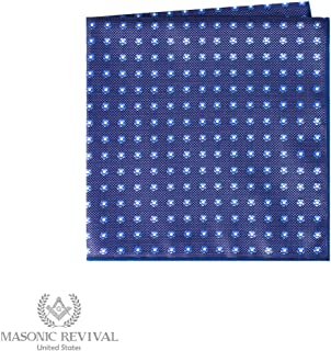 Forget Me Not Pocket Square Handkerchief by Masonic Revival (Blue)