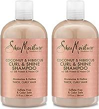 Shea Moisture Coconut Hibiscus Curl & Shine Shampoo, 13 oz, Pack of 2