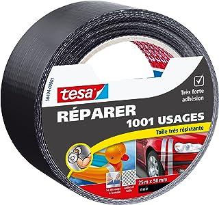 Tesa 56494-00001-00 Réparer 1001 Usages Toile Très Résistante 25 m x 50 mm Noir