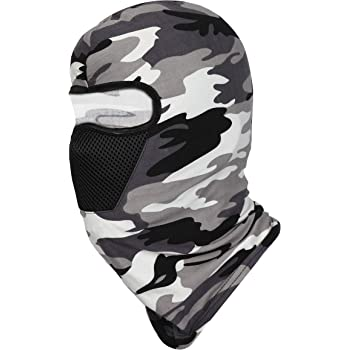 FabSeasons Camouflage Polyester Multi Functional Pollution & Face Mask, Balaclava, Neck Warmer Ninja Mask, Cap and Bandana, Ideal for all Seasons(Get a Bandana Free with every Purchase, Refer Pictures)