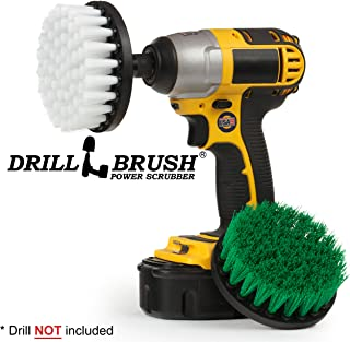 Cleaning Supplies - Kitchen Accessories - Drill Brush - Grout Cleaner - Indoor/Outdoor Spin Brush Cleaning Kit - Stove, Oven Rack, Counters, Flooring - Bathroom Accessories - Scrub - Shower Curtain