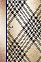 Doodle Planner: Gold Gingham Undated 12 Month Calendar Journal  Organizer Notebook