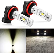 JDM ASTAR Extremely Bright 3600 Lumens High Power H11 H8 H16 LED Fog Light Bulbs for DRL or Fog Lights, Xenon White