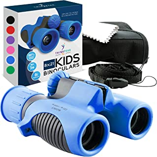 Think Peak Toys Binoculars for Kids, Toy for Sports and Outdoor Play, Spy Gear and Learning Gifts for Boys & Girls, Blue