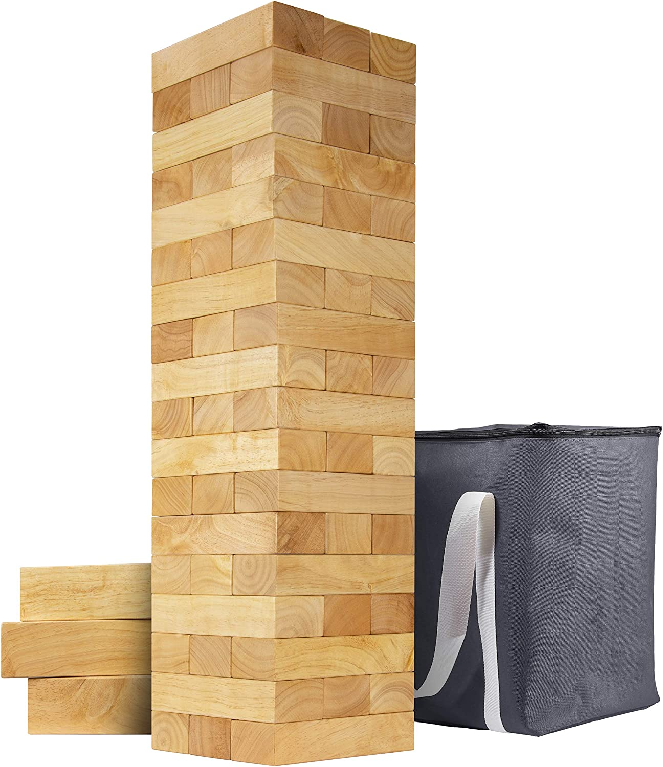 GoSports Giant Wooden 25% OFF Toppling Tower Fees free!! Stacks 5+ - to Feet Choos