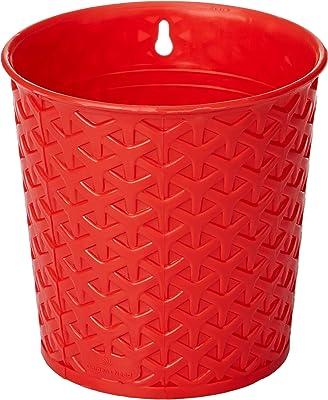 Gardens Need 100% Virgin Plastic Maryam Pot | Set of 5 Planter, (14cm x 14cm x 11cm, Red)