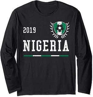 Nigeria Football Jersey 2019 Nigerian Soccer Jersey Long Sleeve T-Shirt
