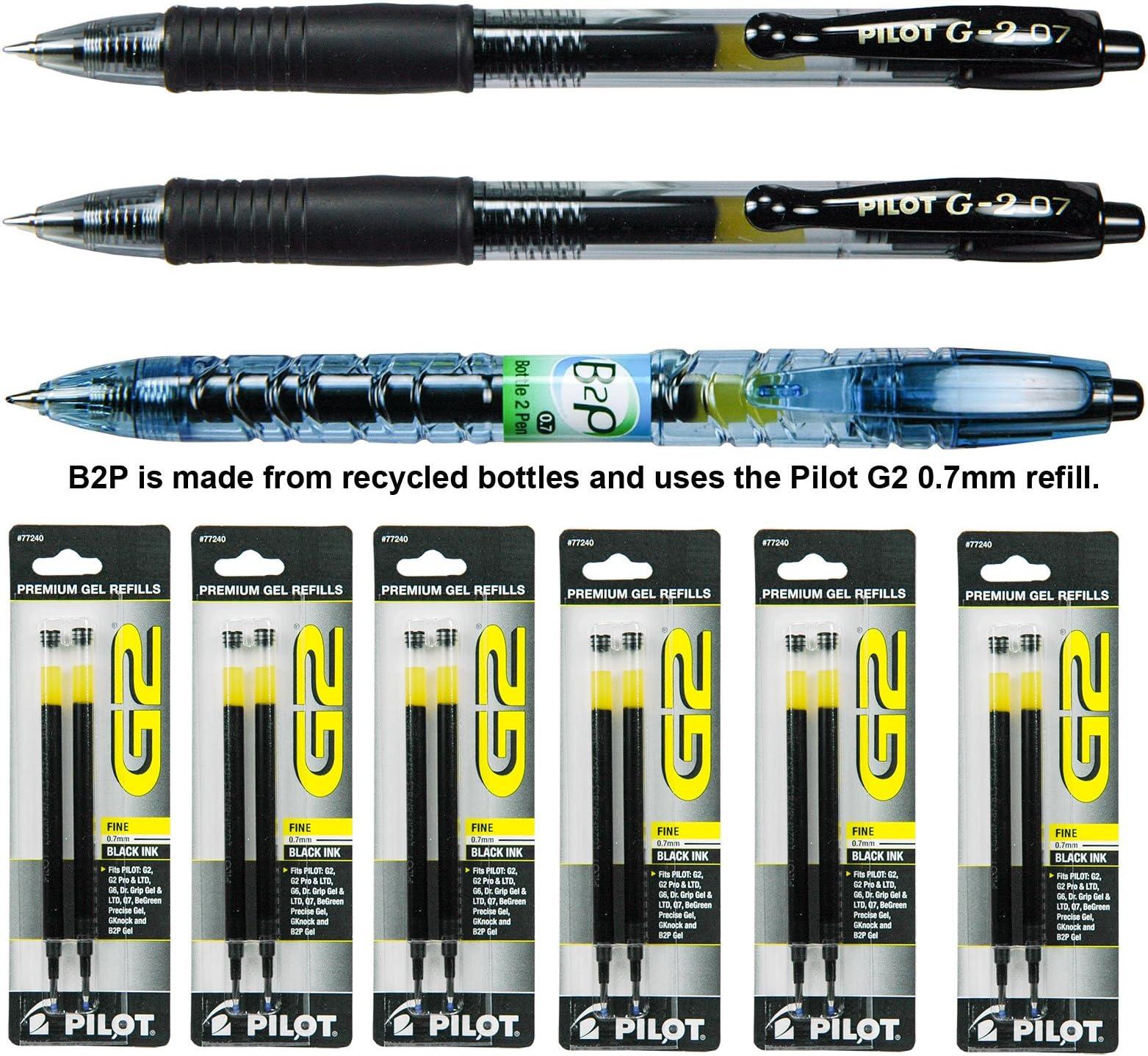3 x Pilot G-2 07 Gel Ink Rollerball Pens Blue Ink Victoria Edition Barrel