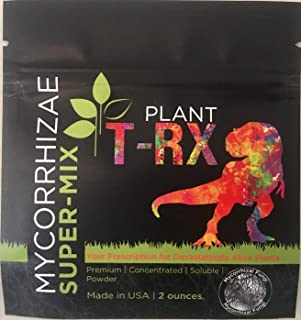 Plant T-RX Mycorrhizal Fungi and Beneficial Bacteria Super-Concentrate Powder Inoculant for Soil Gardens Hydroponics Plants Vegetables Trees 2 Ounces Make 120 Gallons