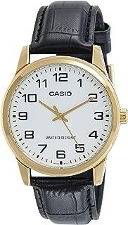 Casio Men's MTPV001GL-7B Black Leather Quartz Watch