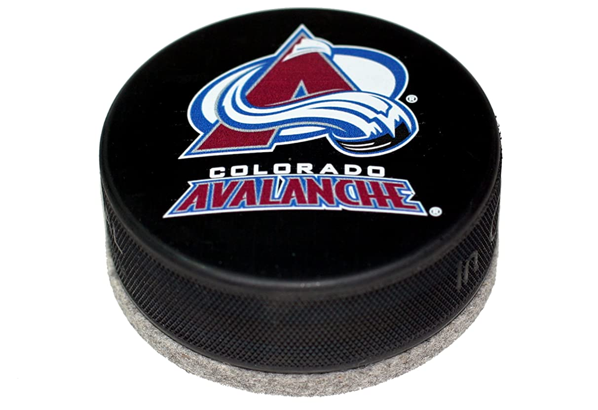 EBINGERS PLACE Colorado Avalanche Basic Series Hockey Puck Board Eraser for Chalk Boards and Whiteboards