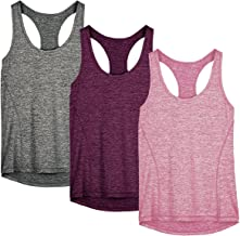 icyzone Dames Sporttop Racerback Fitness Yoga Tank Top Gym Mouwloze Shirt