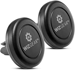 WizGear - Magnetic Phone Car Mount, [2 Pack] Universal Air Vent Magnetic Car Mount Phone Holder, for Cell Phones and Mini Tablets with Fast Swift-Snap Technology, with 4 Metal Plates