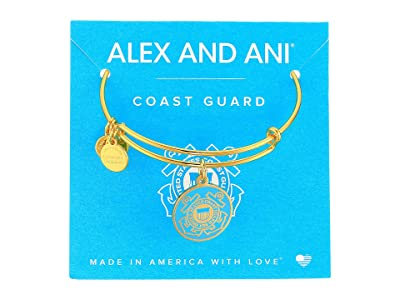 Alex and Ani US Coast Guard (Gold) Bracelet