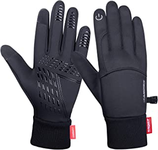 Anqier Winter Gloves,Newest Windproof Warm Touchscreen Gloves Men Women For Cycling Running Outdoor Activities