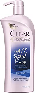 Clear Shampoo with Pump, 24/7 Total Care, 21.9 oz
