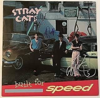 Stray Cats signed album built for speed lp group autographed brian setzer lee rocker slim jim