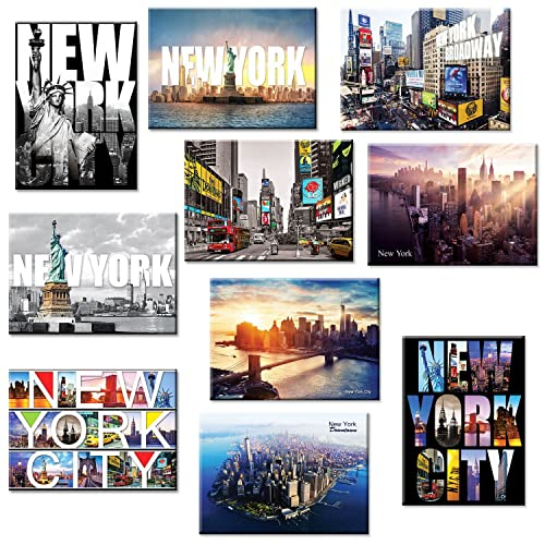 NEW Souvenir USA NEW York City Magnet Empire State Building with Wood Base